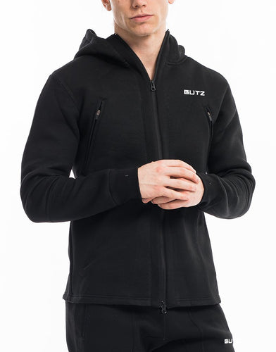 Butz Gym Jacket + Joggers Set - (Black)