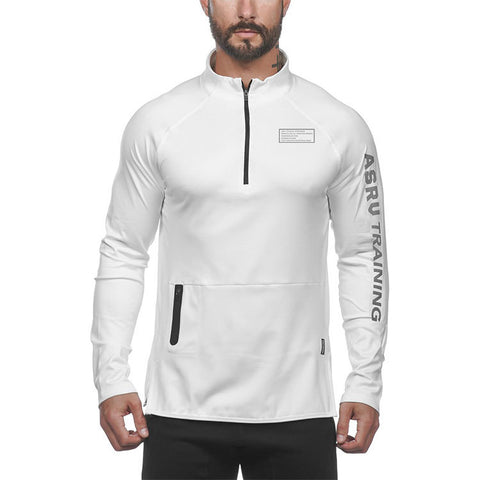 Tru-Fit Zip Up Hoodie (White)