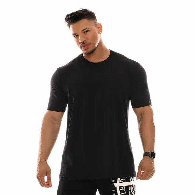 .Bulking Gym Seamless Short Sleeve - Black