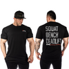 Rebel Tee - Squat, Bench, Deadlift (Black)