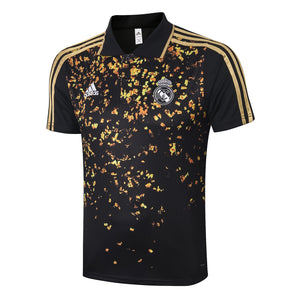 Real Madrid Polo Tee (Black/Gold)
