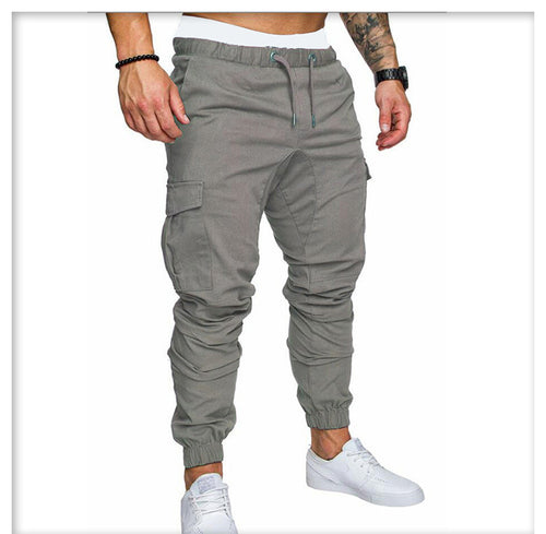 Cotton Cargo Pants (Grey)