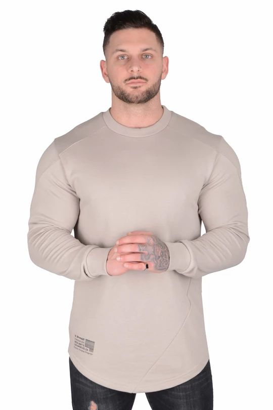.Barcode Performance Long Sleeve - Beige