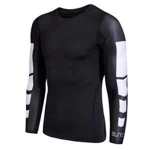 C - Elite I Pro Combat Black Long Sleeve Top Compression Tights