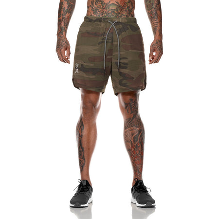 Men's Qualifier Speedpocket 2-in-1 Shorts (Green Camo)