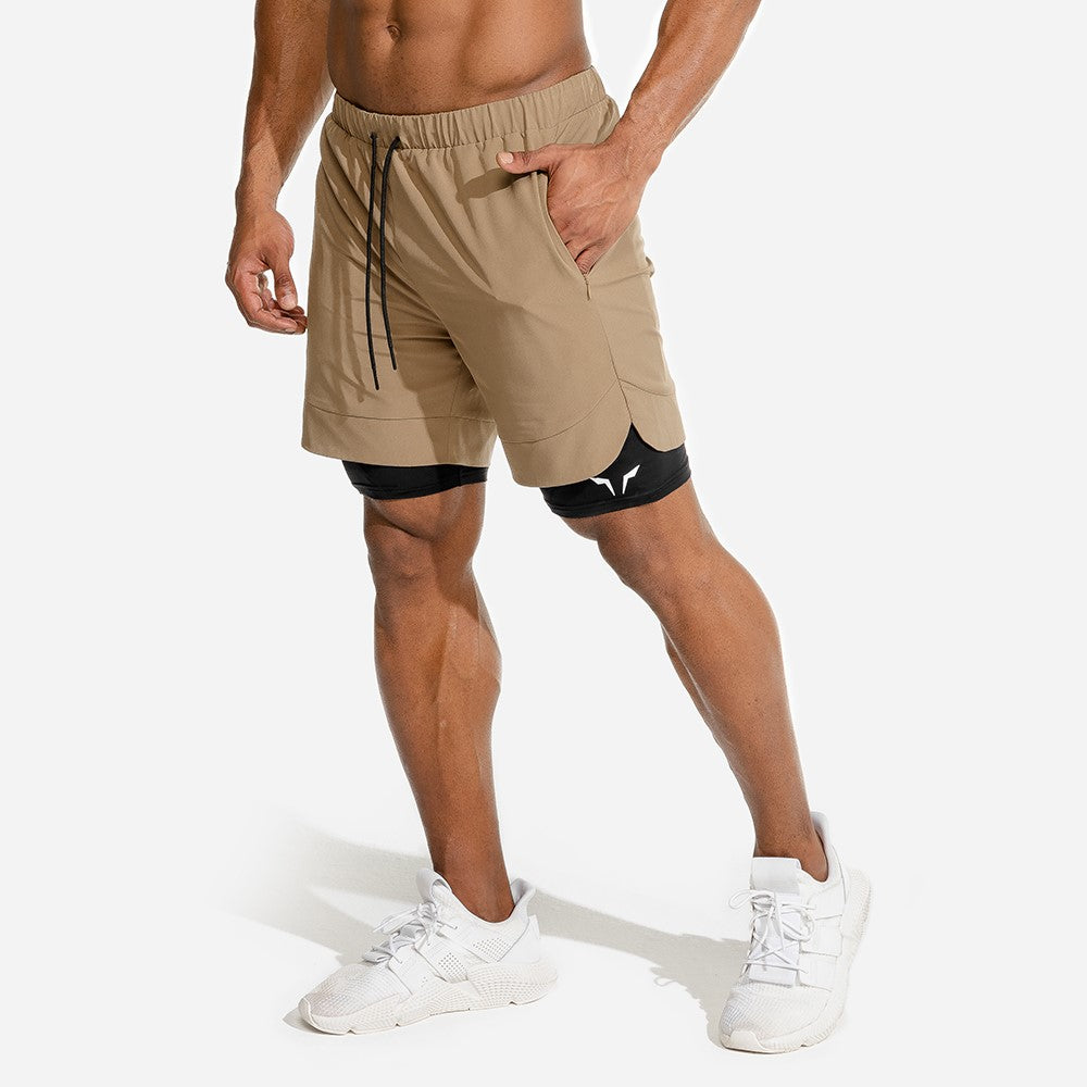 Ultimate 2-in-1 Shorts (Brown/Black)