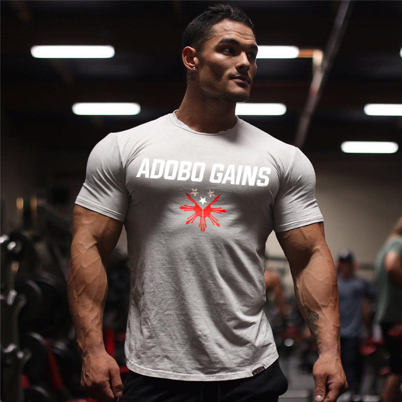 .Abo Gains Gym Seamless Short Sleeve - Grey