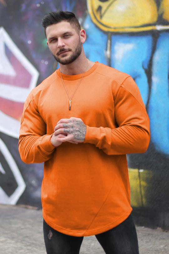 .Barcode Performance Long Sleeve - Orange