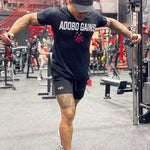 .Abo Gains Gym Seamless Short Sleeve - Black