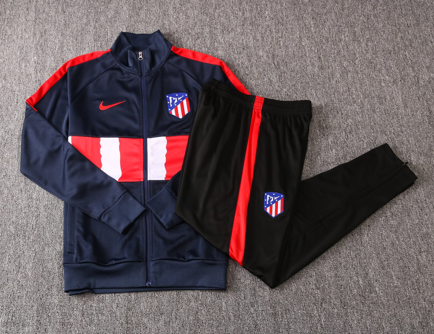 Atletico Madrid 20/21 FULL-ZIP TRACK JACKET (PANTS SOLD SEPERATELY)