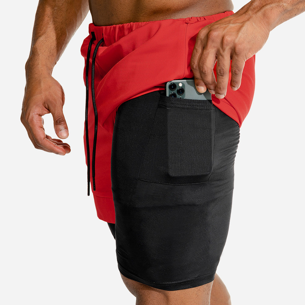 .Speedpocket 2-in-1 Running Shorts - Orange/Black