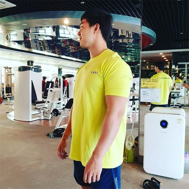 .Easy Gym Seamless Short Sleeve - Yellow