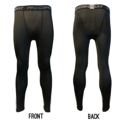 B - Total Black Pro Combat Compression Tights Long Bottoms (New*)