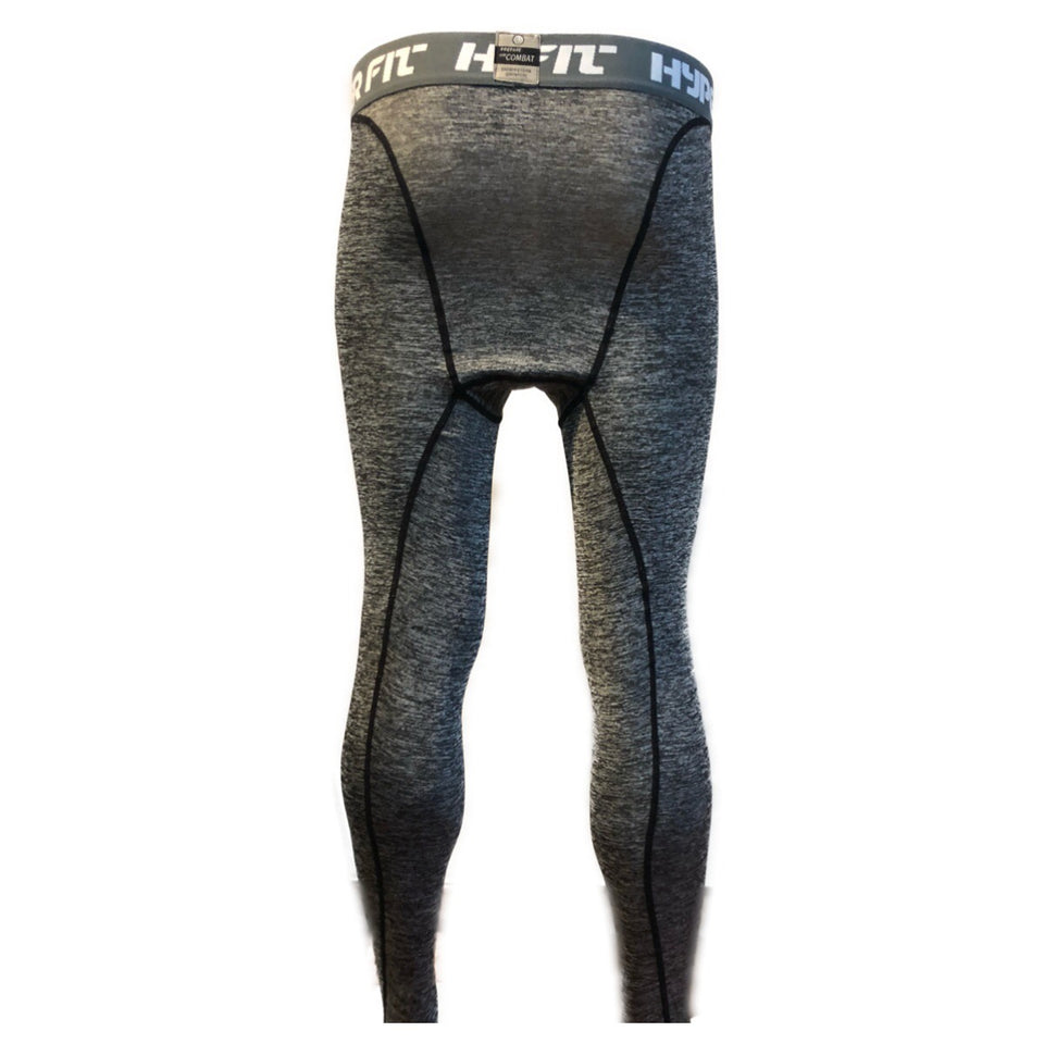 B - Pro Combat Compression Tights Long Bottoms (Grey) New*