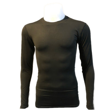 B - Pro Combat Long Sleeve Top Compression Tights in Black (New)