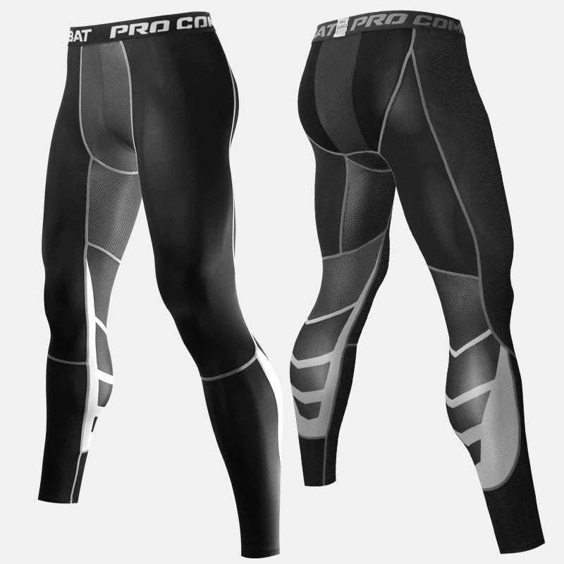 C - Elite I Pro Combat Black Long Bottom Compression Tights