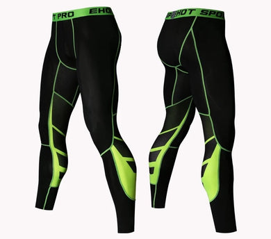 C - Elite I Pro Combat Yellow Long Bottom Compression Tights