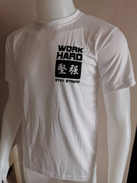 DOMS - WORK HARD 坚强 STAY STRONG (White)