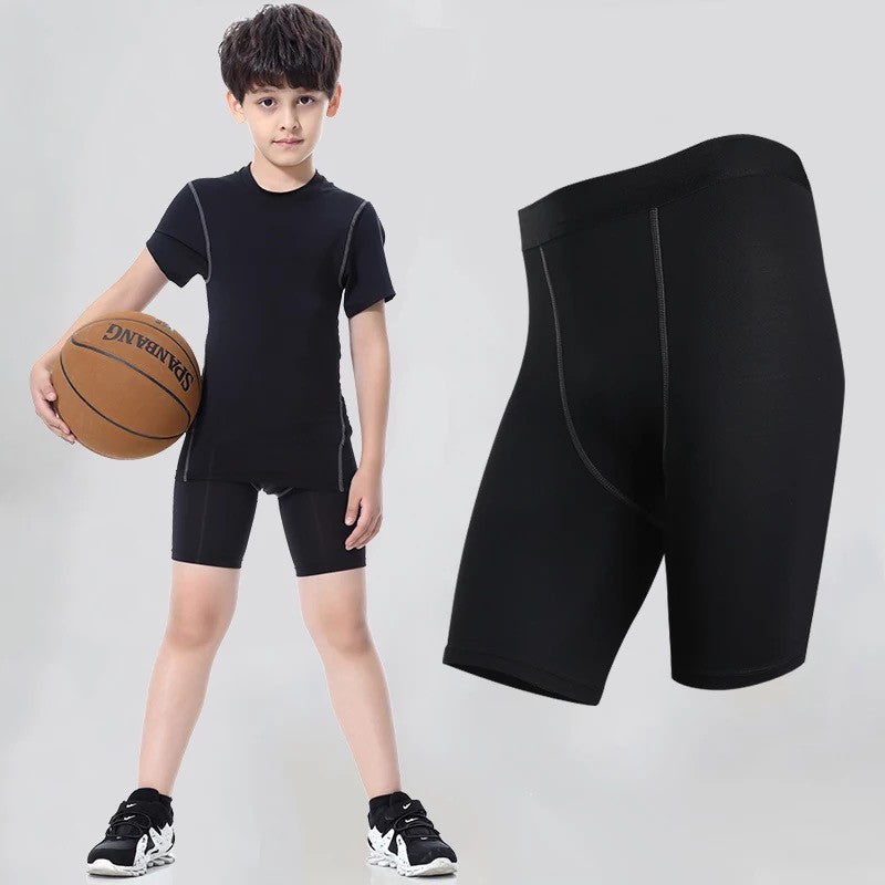 B - Pro Combat Children/Kid Size Compression Tights Shorts