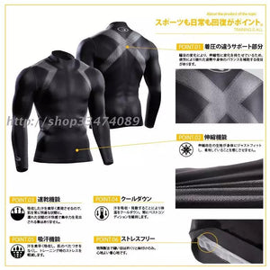 D - BodyMaker Authentic Pro Combat Long Sleeve Top Compression Tights