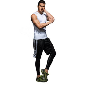 C - Elite II Pro Combat White Compression Tights Singlet