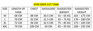 DOMS - Reckless Deep Cut Gym Tank - White