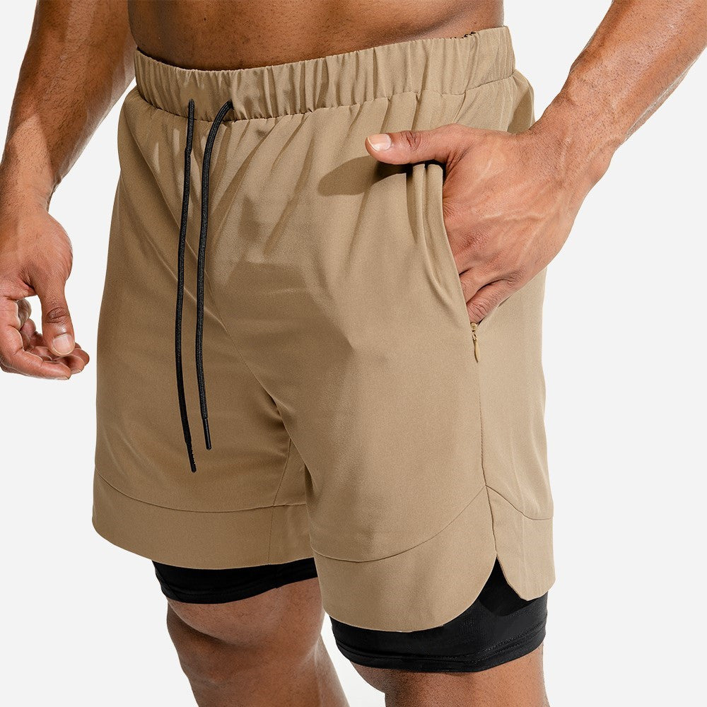 .Speedpocket 2-in-1 Running Shorts - Brown/Black