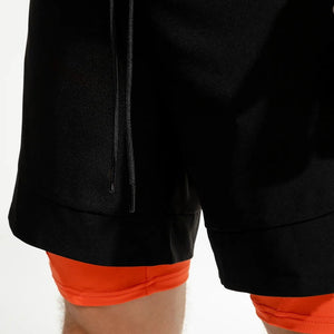 CNY 2020 - .Speedpocket 2-in-1 Running Shorts - Black/Orange