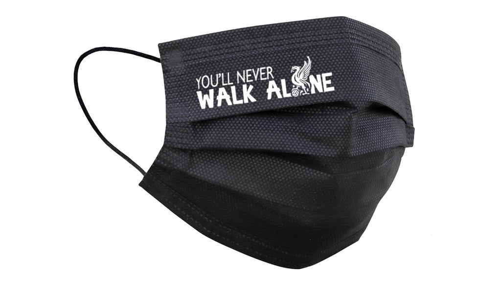 #YNWA 3 ply Adult Face Mask (Black)