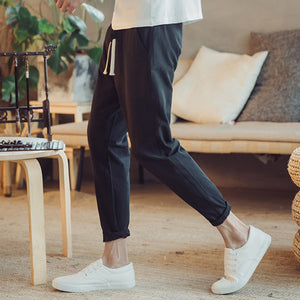 Z - Korean Relaxing Comfy Pants Black