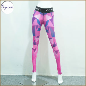 P - Syren Female Pink Camo Long Bottom Compression Tights