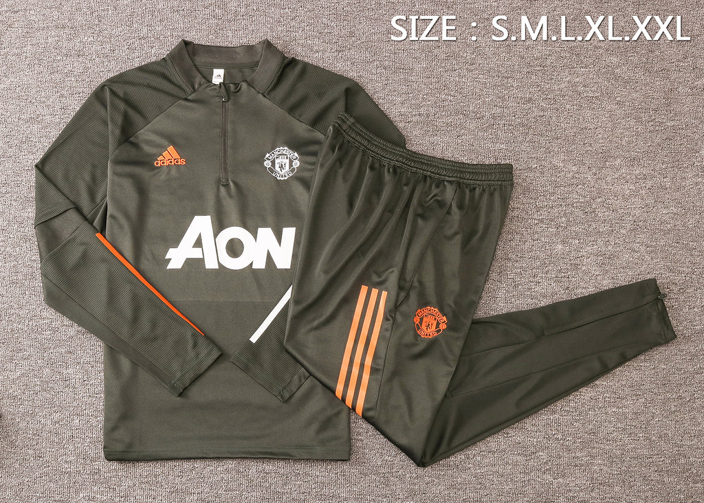Manchester United 20/21 FULL-ZIP TRACK JACKET (PANTS SOLD SEPERATELY)