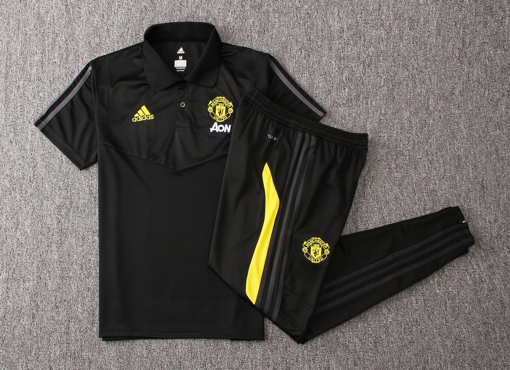 Manchester United Polo Tee (Black)