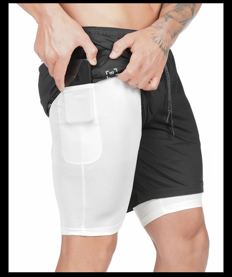 Qualifier 2-in-1 Shorts (Black) NEW VERSION