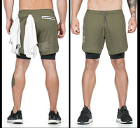 Qualifier 2-in-1 Shorts (GREEN) NEW VERSION