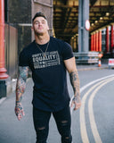 "DOMS - Most ""Powordful"" Athleti-Fit™ Tee - Black"
