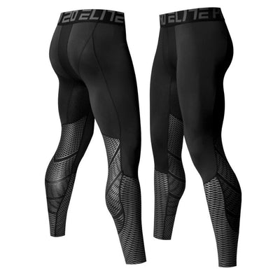 A - Hyperlight Pro Combat Silver Long Bottom Compression Tights