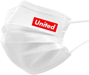 #UNITED 3 ply Adult Face Mask (White)