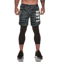 Men's Qualifier Speedpocket 3/4 Tights + Shorts - (Green Camo)