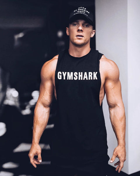 Shark Fitness Singlet (Black)