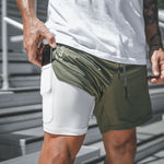 Qualifier 2-in-1 Shorts (Green) MUST HAVE ITEM