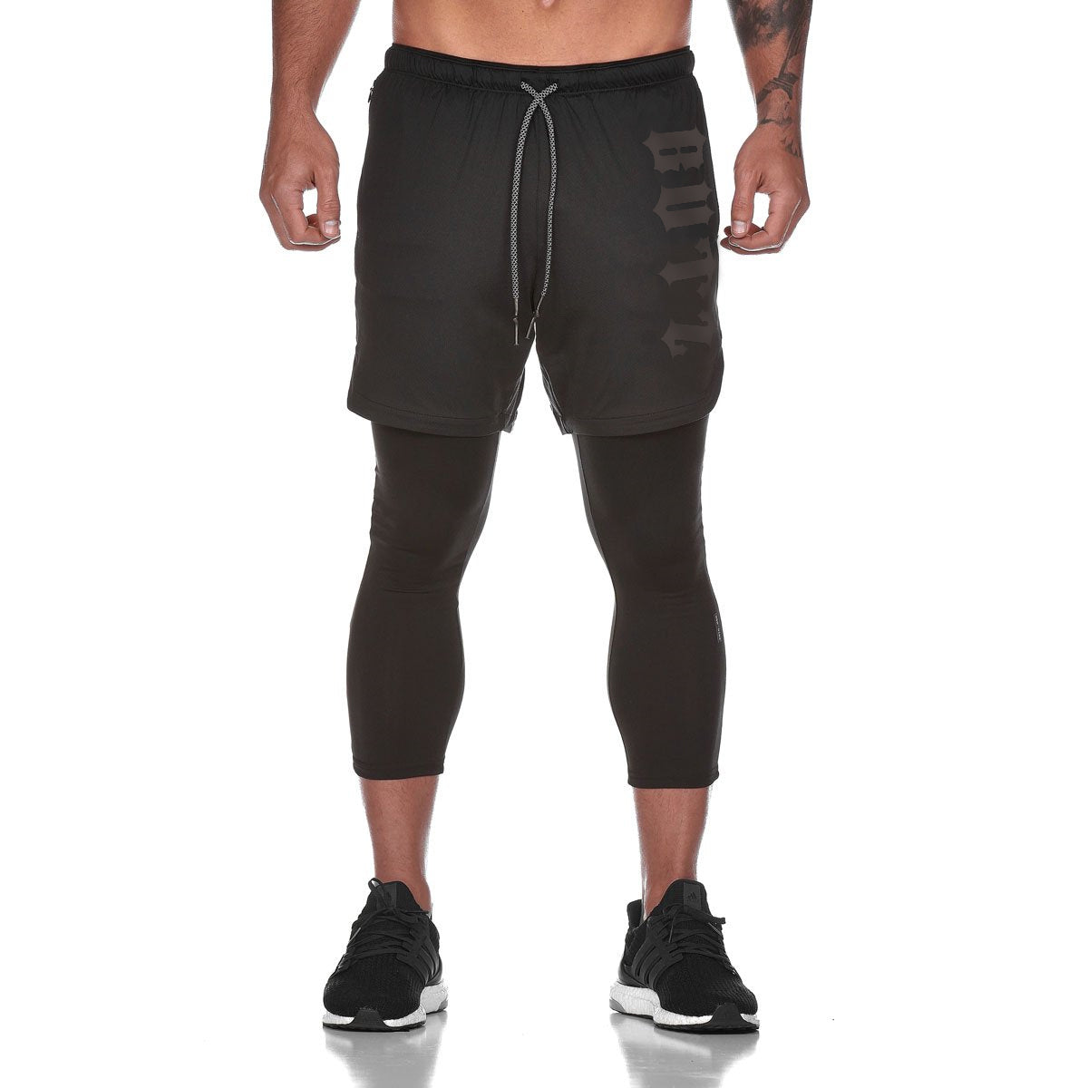 Men's Qualifier Speedpocket 3/4 Tights + Shorts - (Black)