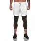Men's Qualifier Speedpocket 3/4 Tights + Shorts - (White)