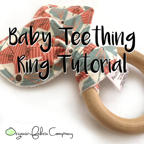 Make your own baby shower gift - Organic Teething Toy - Do it Yourself!