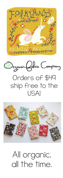 Folkland for Birch Fabrics. Shipping now at Organic Fabric Company!