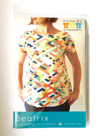 Women's Blouse Paper Pattern - Advanced - Beatrix Top - XS, S, M, L, XL, XXL - 2XL - Made by Rae