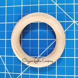"3"" Diameter - Natural Maple Wood Rings - Certified CPSIA Compliant - Teething Nursing Toy"