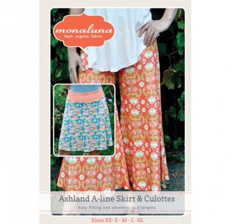 Women's Ashland Skirt & Culottes Paper Pattern - Intermediate - XS-XL - Monaluna