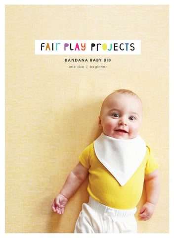 Bandana Baby Bib - Beginner Level - Fair Play Projects - Paper Pattern