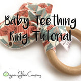 "2.5"" Diameter - Natural Maple Wood Rings - Certified CPSIA Compliant - Teething Nursing Toy"